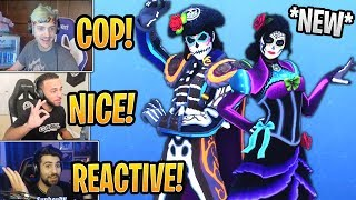 Streamers React to *NEW* (Reactive) Dante and Rosa Skins! - Fortnite Best and Funny Moments