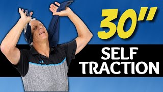 30 Second Self-Traction for Neck Pain, Pinched Nerve, Herniated or Bulging Disc-you can do at home.