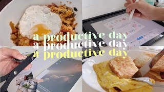 a productive day in my life 🌤 | studying for finals, cooking, journaling