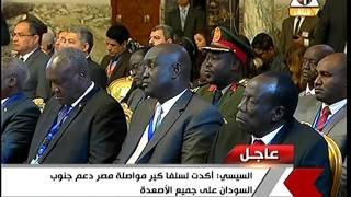 السيسي تباحث مع رئيس جنوب السودان سبل استعادة السلم