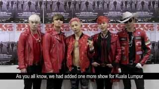 BIGBANG special message for Malaysia VIPs !!!