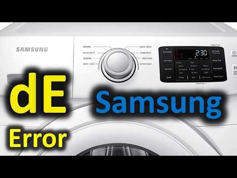 dE Error Code SOLVED!!! Samsung Front Loading Washer Washing Machine