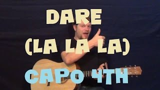 Dare la la la (Shakira) Easy Guitar Lesson How to Play Tutorial