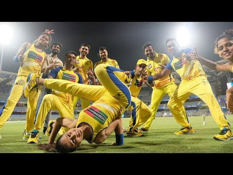 Chennai Super Kings Celebrations after reaching Final IPL2018   Dressing Room Celebration After Win
