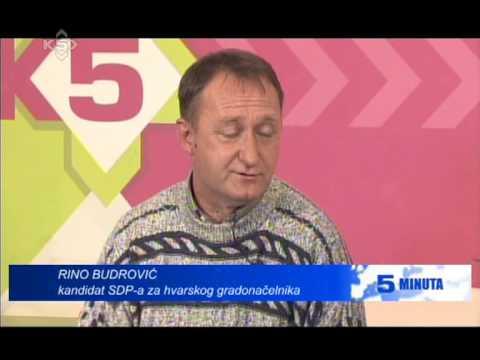 5 MINUTA INTERVIEW RINO BUDROVIC KANAL 5 TV