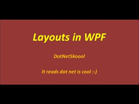 Layouts In WPF