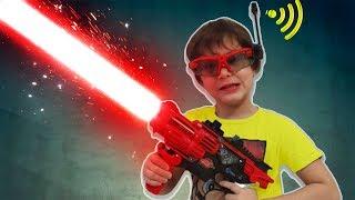 Прикол Голосом - Дети разыграли Папу / Наши новые Пушки от Silverlit for funny kids