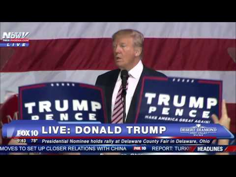Donald Trump RALLY in Delaware OHIO - 1ST SPEECH After Final