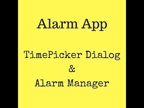Simple Alarm App (Timepicker) using Android Studio Tutorial