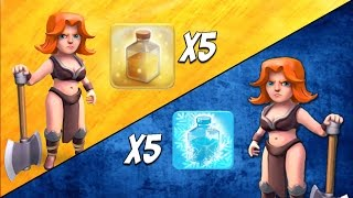 Valkyrie Tournament #3: Heal Spell vs Freeze Spell Clan | Epic All Valkyrie Attack | Clash of Clans