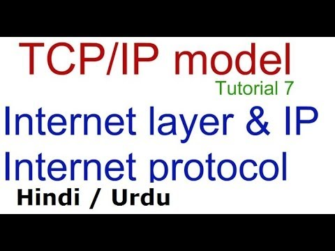 Internet Protocol IP and internet layer in Hindi Urdu, TCP IP protocol suite tutorial lecture 7