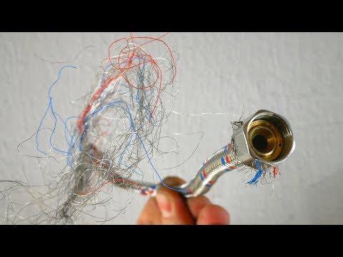 Do not throw away Metal plumbing hose make 5 simple hacks