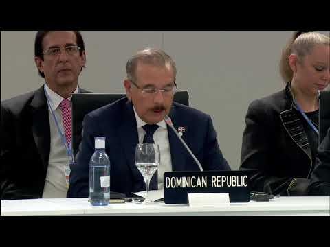 VIDEO:Danilo Medina propone abordar cambio climático con inversión en mitigación, fondos de emergencia y redes protección social a vulnerables