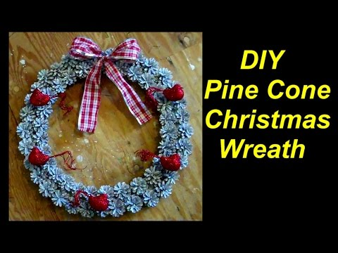 How to Make a Christmas Wreath out of Pine Cones