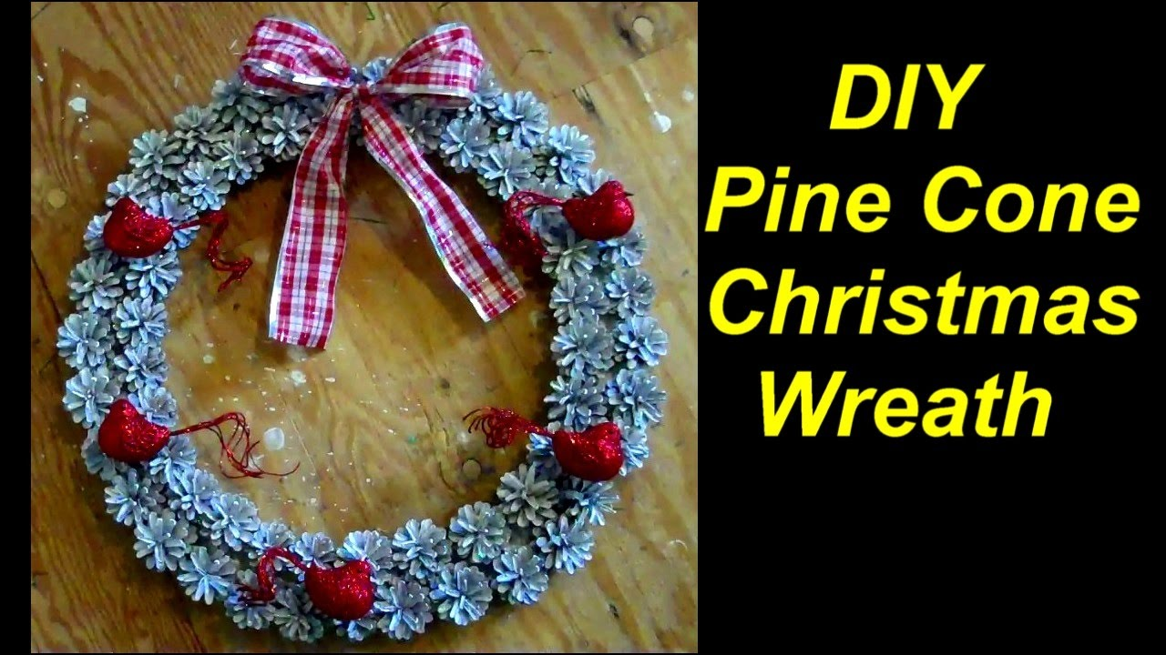 How to Make a Christmas Wreath out of Pine Cones - YouTube