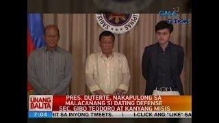 Download Video UB: Pres. Duterte, nakapulong sa Malacañang si dating Defense Sec. Gibo Teodoro at kanyang misis MP3 3GP MP4