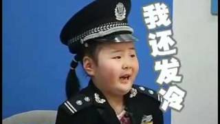 Cute Little Chinese Girl Scared To Death On TV Show
