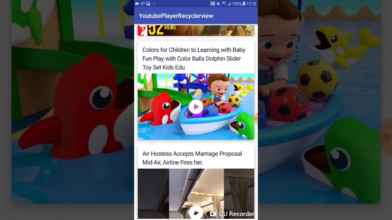 Youtube player in RecyclerView in Android - AndroidWave