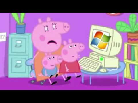 (YTP) Peppa Pig Destroys Computers