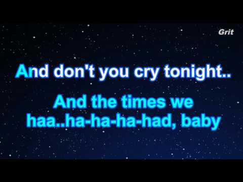 Don't Cry - Guns N' Roses Karaoke【No Guide Melody】