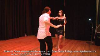 Hot Salsa Dance Zone Show at Salsa Fusion Fridays