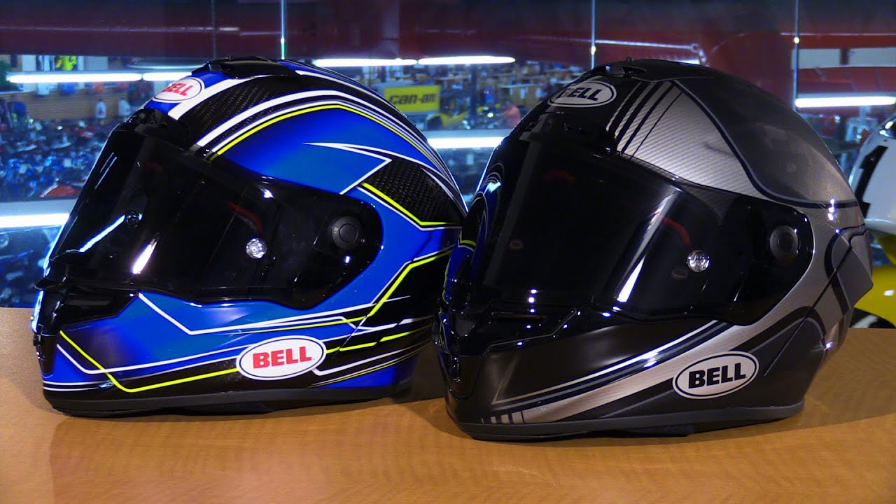 Bell Motorcycle Helmet >> Bell Helmets Pro Star and Race Star Full Face Motorcycle Helmets Review - YouTube