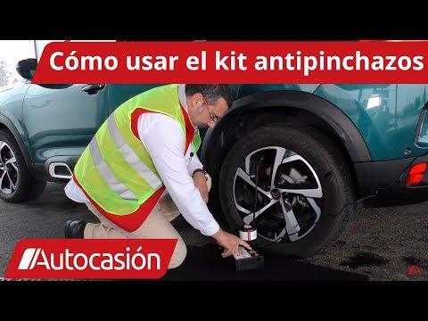 Cómo usar el kit antipinchazos del coche