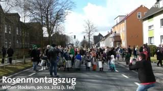 Witten-Stockum: Rosenmontagszug 2012 (Teil 1)