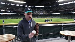 Snagging 20 baseballs at Safeco Field!