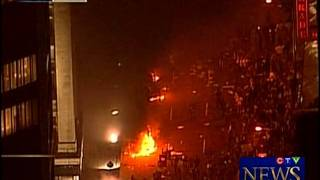 Crowd Violence in Downtown Vancouver - 2011 Stanley Cup Riots June 15th, 2011 (on CTV) Part 3