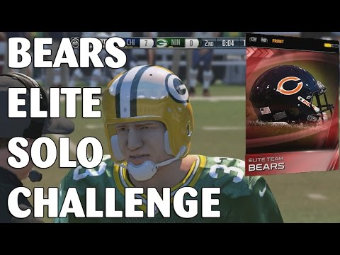 Madden 15 Ultimate Team - Bears Elite Solo Challenge - Rookie Legend Sammy Baugh