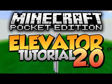 Minecraft PE: Fast Up & Down Elevator Tutorial [EASY] - YouTube