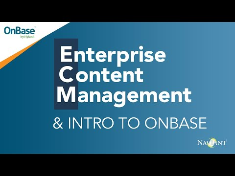 Enterprise Content Management  - What Is ECM? An Introduction