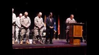 Bravo Battery, 1st Battalion, 121st Field Artillery of the Wisconsin National Guard send off