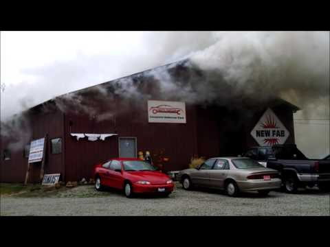 Newark Ohio Fire Department 14 Vogel Street working structure fire Incident Command with audio