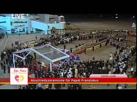 """Paraguay 2015: Abschiedszeremonie auf dem Flughafen Asunción """"Silvio Petrossi"""""""