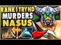 #1 TRYNDAMERE WORLD DESTROYS CHALLENGER NASUS FT. HUGE DONATION!!$ - League of Legends