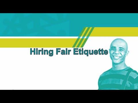 Hiring Fair Etiquette