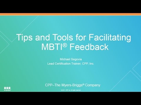 Tips and Tools for Facilitating MBTI® Feedback Webinar - YouTube