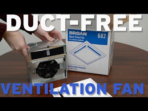 Broan Nutone 682 Duct Free Ventilation Fan Youtube