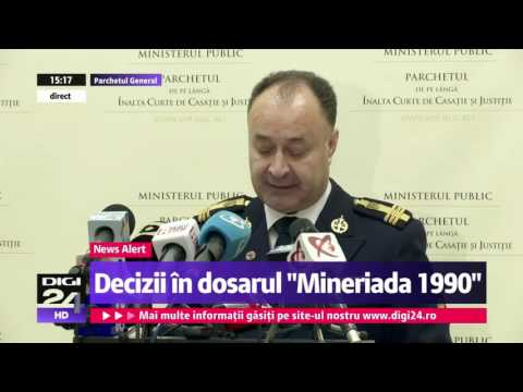 Ion Iliescu inculpat in dosarul Mineriadei