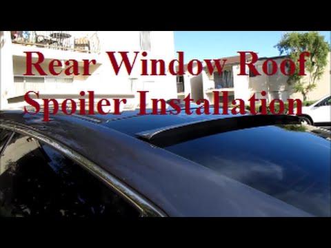 DIY 2013 2014 2015 Honda Accord Rear Window Roof Spoiler Installation -DiyCarModz