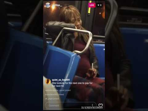 Pregnant Woman on Drugs riding the bus (Dont do Drugs)