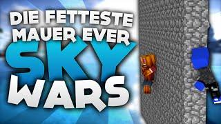Die fetteste Mauer Ever! - Minecraft Sky Wars! | DieBuddiesZocken