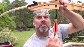 How not to hunt. Survival hunting school hunting fail with recurve bow featuring Troy LaMont