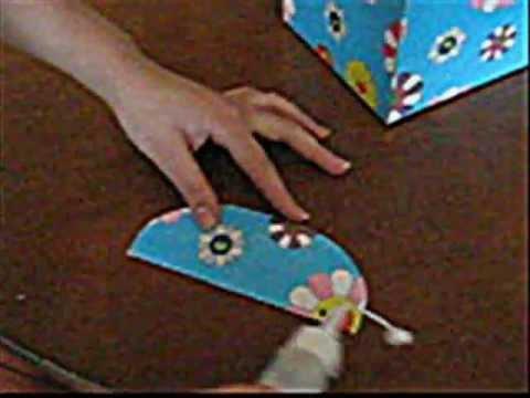 Como hacer una caja para lluvia de sobres youtube - Como forrar una caja con tela ...
