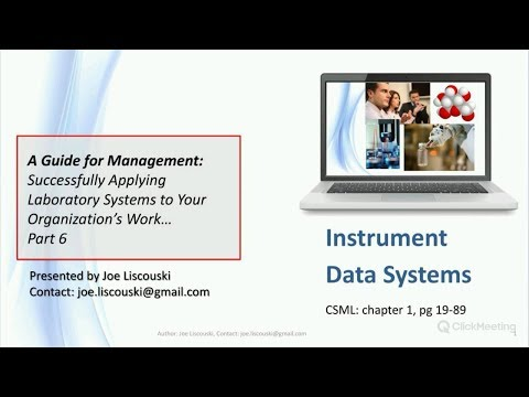 Part 6 - A Guide For Laboratory Systems Management: Instrument Data Systems