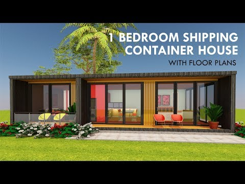 Modular Shipping Container 1 Bedroom Prefab Home Design with Floor Plans | MODBOX 640 COMPACT