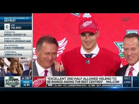Detroit Red Wings Select Joe Veleno 30th Overall (2018 Draft)
