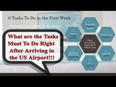 List of Tasks To Do immediately after landing in the USA | TO Do List Part-1